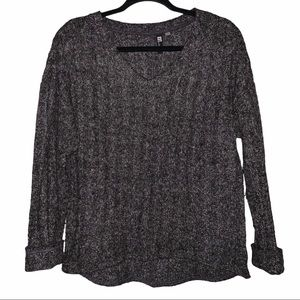 Kut from the Kloth ribbed knit charcoal sweater